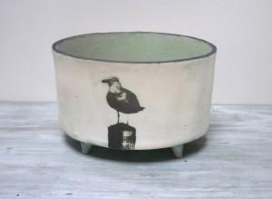 'Seagull' medium oval planter